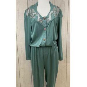 Vintage 80's Knit Jumpsuit Beaded